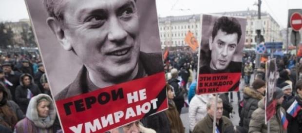 Demonstratie in memoria lui Boris Nemtsov