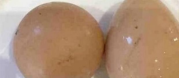 Foto archivo del huevo subastado