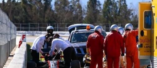 Accidente de Alonso en Montmeló