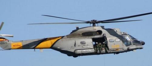 Accidente producido por colisión de helicopteros