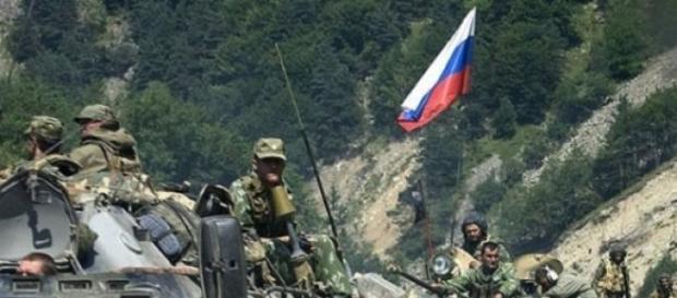Armata rusa este plecata in misiune!