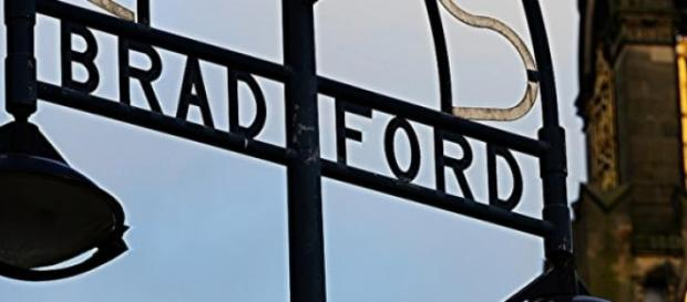 Bradford City Centre welcome sign