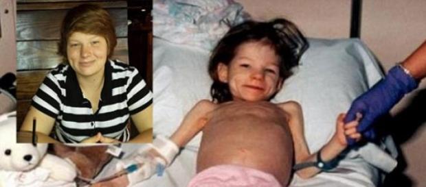 Foto de la niña en el hospital
