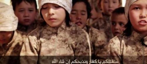 Crianças do EI: treinadas para matar. (Foto: ANSA)