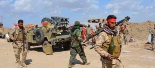 Les combattants des forces iraquiennes