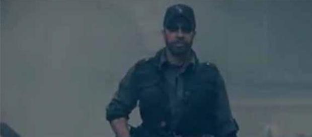 Chuck Norris in The Expendables 2.