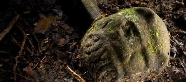 Efigie descoperita in jungla din Honduras
