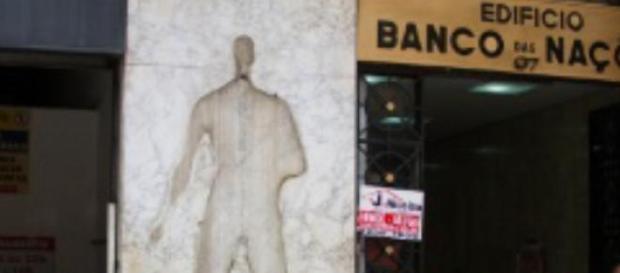 Estátua roubada no centro de São Paulo