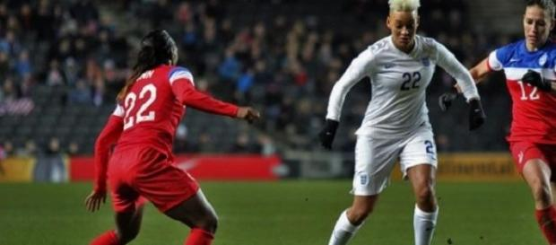Lianne Sanderson was the match winner for England