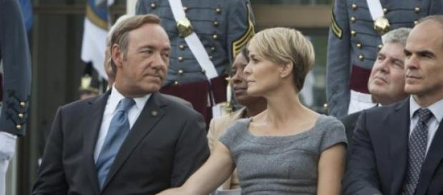 Robin Whright y Kevin Spacey en House of Cards
