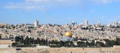 A land in turmoil: View of the Old city, Jerusalem