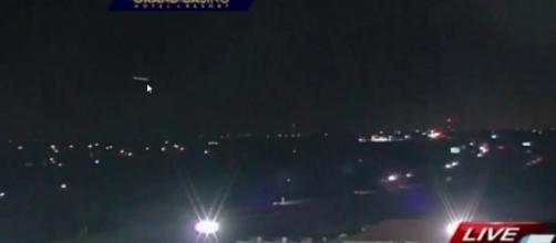 Avvistamento Ufo durante diretta televisiva.