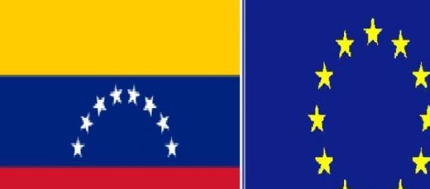 Banderas de Venezuela y  la UE