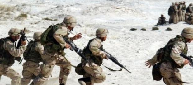 Soldados americanos en misión de combate