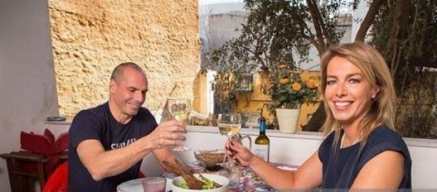 Varoufakis e esposa em casa