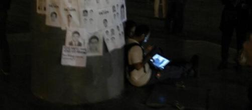 Des manifestants au centre-ville de Mexico.