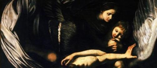 Le opere di Misericordia, la Madonna e il Bambino