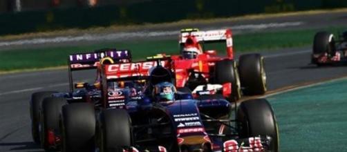 Le jeune Carlos Sainz au volant de sa Toro Rosso