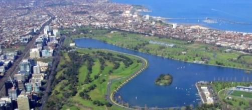 Pista di Melbourne, vista aerea
