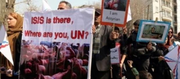 Crestini din Orient cerand ajutorul ONU
