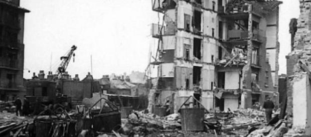 Distrugeri in orasele germane produse de rachete