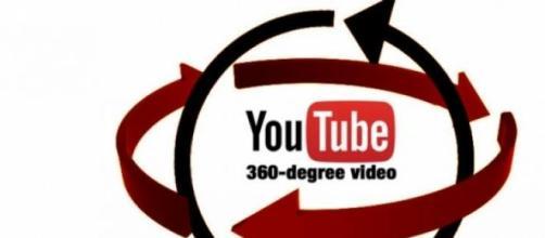 Il simbolo di YouTube a 360 gradi