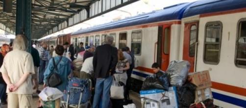 Train in Turkey boarding to Syrian border.