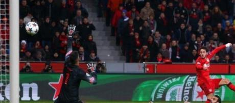 Calhanoglu's goal gives the Germans a 1-0 lead.