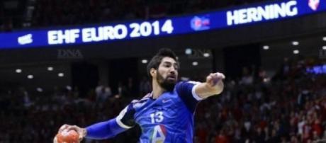 Nikola Karabatic em ação no Mundial do Qatar
