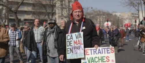 Les retraités manifestent pour le pouvoir d'achat.