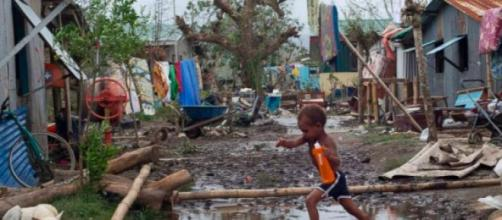 Vanuatu became partially destroyed