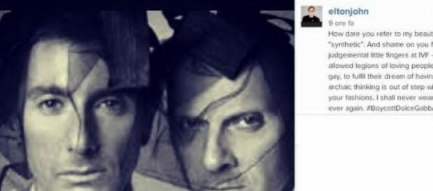 Il post su Instagram di Elton John