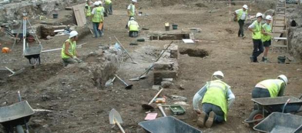 Imagine cu situl arheologic din Irlanda