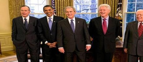 President elect Obama meets with former Presidents