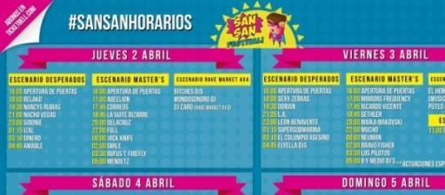 cartel de conciertos festival SANSAN