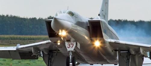Tu-22M que participa nos treinos das FAs russas.