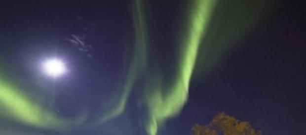 Aurora boreale sul Nord America