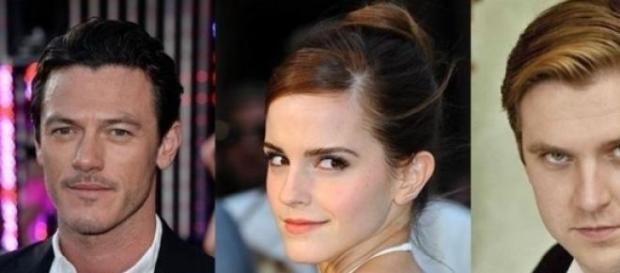 Luke Evans, Emma Watson y Dan stevens