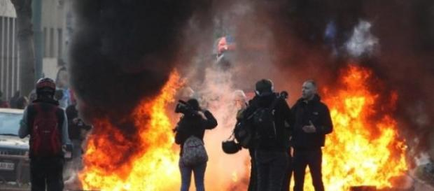 proteste violente in Germania