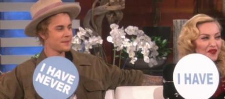 Justin Bieber e Madonna no Ellen DeGeneres Show