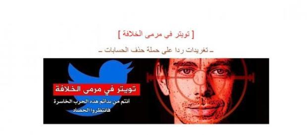 É esta a imagem publicada que contém as ameaças.