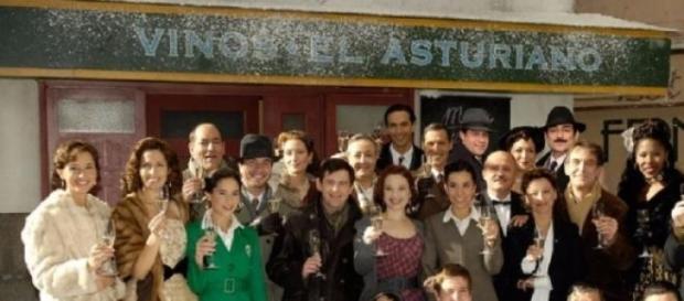 Il cast della soap Amare per sempre.