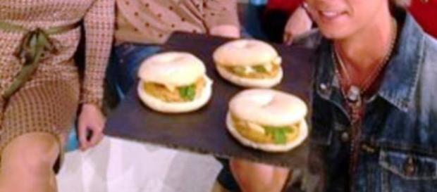 Ricetta bagel con burger di ceci