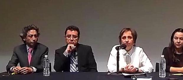 Aristegui emitió su pronunciamiento con su equipo.