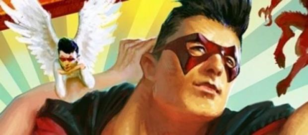 Stein des Anstoßes: Andreas Gabalier als Superheld