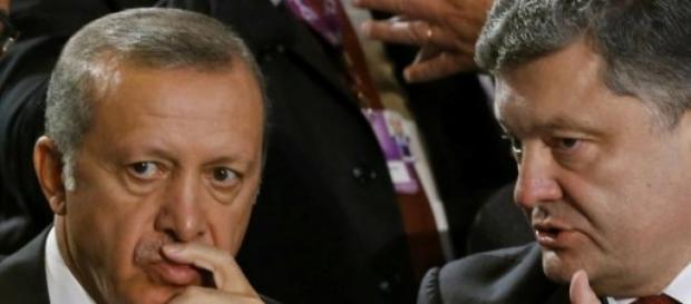 Tayyp Erdogan si Petro Poroshenko