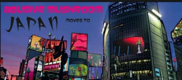Abusive mushroom free art project: Tokyo 2015