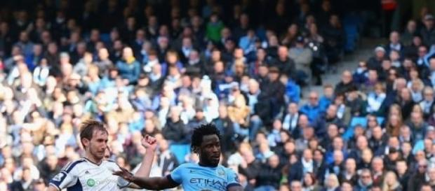 Wilfried Bony scored his first goal for City