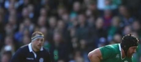 Sean O'Brien scored two tries for Ireland