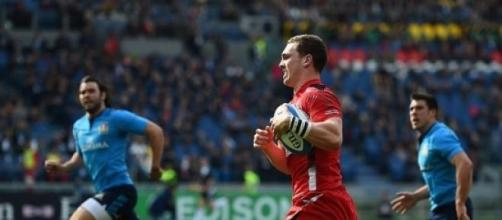 North scored a hat-trick of tries for Wales